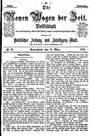 Neue Wogen der Zeit vom 19.03.1870