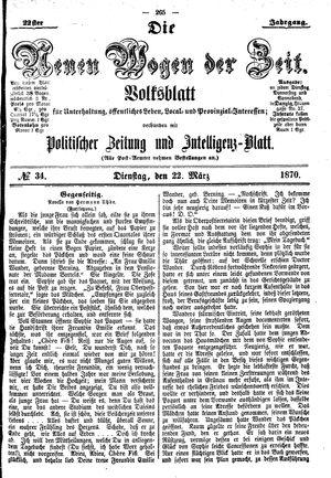 Neue Wogen der Zeit vom 22.03.1870