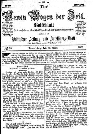 Neue Wogen der Zeit vom 31.03.1870