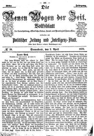 Neue Wogen der Zeit vom 02.04.1870