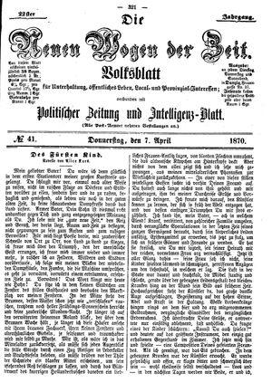 Neue Wogen der Zeit vom 07.04.1870