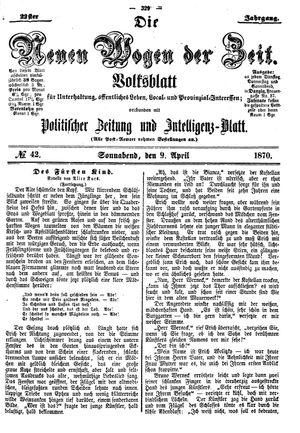 Neue Wogen der Zeit vom 09.04.1870