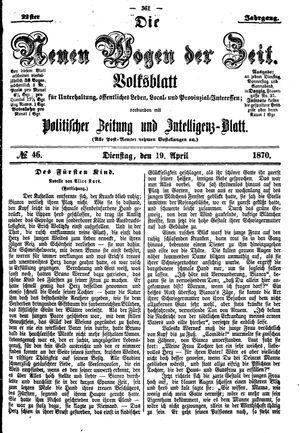 Neue Wogen der Zeit vom 19.04.1870