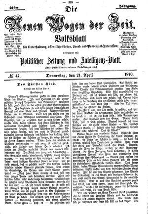 Neue Wogen der Zeit on Apr 21, 1870
