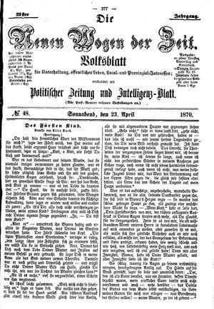 Neue Wogen der Zeit vom 23.04.1870
