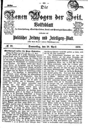 Neue Wogen der Zeit vom 28.04.1870