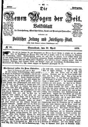 Neue Wogen der Zeit vom 30.04.1870