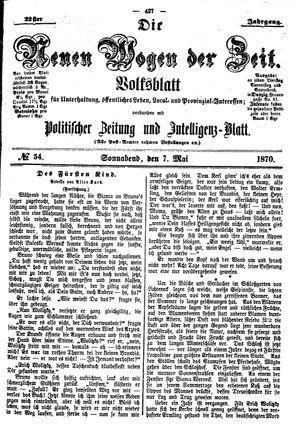 Neue Wogen der Zeit vom 07.05.1870