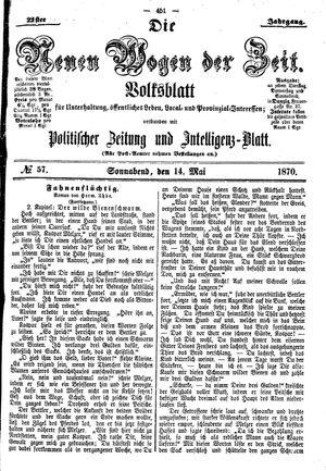 Neue Wogen der Zeit vom 14.05.1870