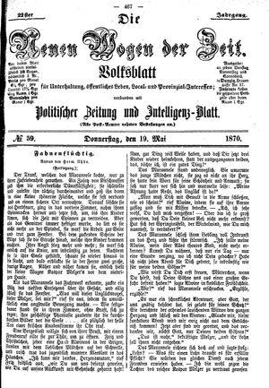 Neue Wogen der Zeit vom 19.05.1870