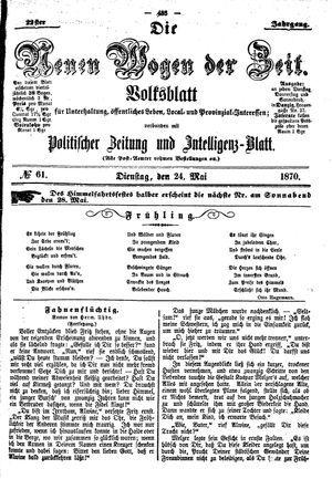 Neue Wogen der Zeit vom 24.05.1870