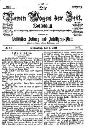 Neue Wogen der Zeit vom 02.06.1870