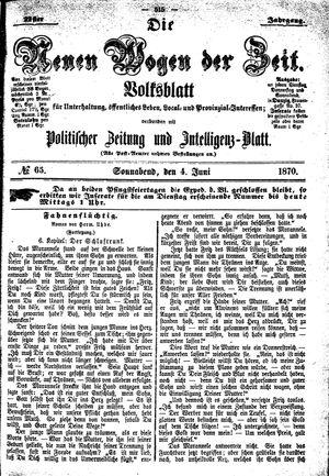 Neue Wogen der Zeit vom 04.06.1870