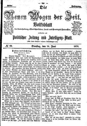 Neue Wogen der Zeit vom 14.06.1870