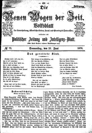 Neue Wogen der Zeit vom 23.06.1870