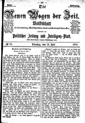 Neue Wogen der Zeit vom 12.07.1870