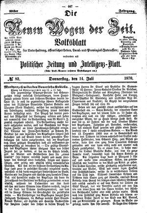 Neue Wogen der Zeit vom 14.07.1870