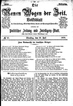 Neue Wogen der Zeit vom 26.07.1870