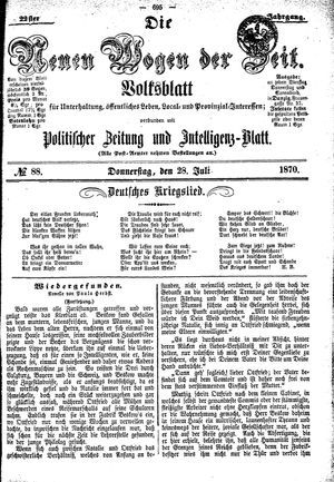 Neue Wogen der Zeit vom 28.07.1870