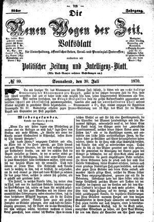 Neue Wogen der Zeit vom 30.07.1870