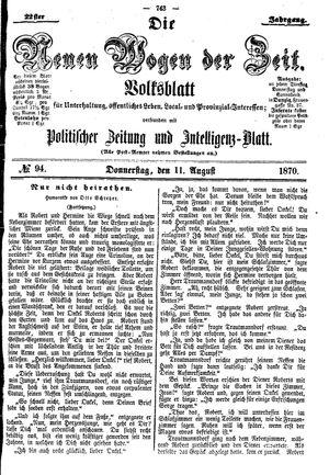 Neue Wogen der Zeit on Aug 11, 1870