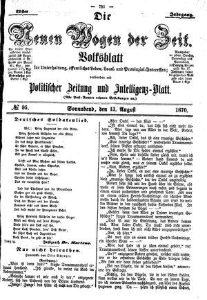 Neue Wogen der Zeit vom 13.08.1870