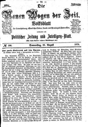 Neue Wogen der Zeit vom 25.08.1870