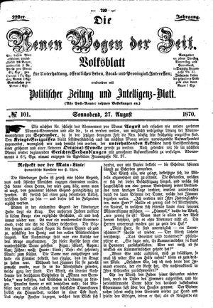 Neue Wogen der Zeit vom 27.08.1870