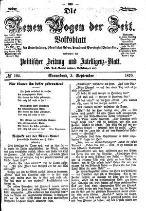 Neue Wogen der Zeit vom 03.09.1870