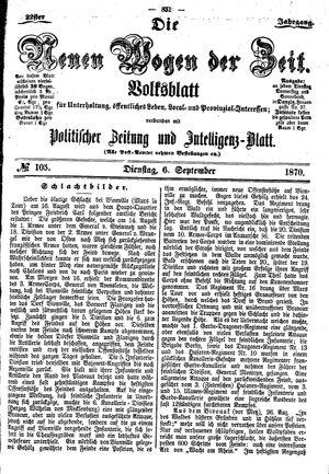 Neue Wogen der Zeit vom 06.09.1870