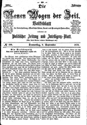 Neue Wogen der Zeit vom 08.09.1870