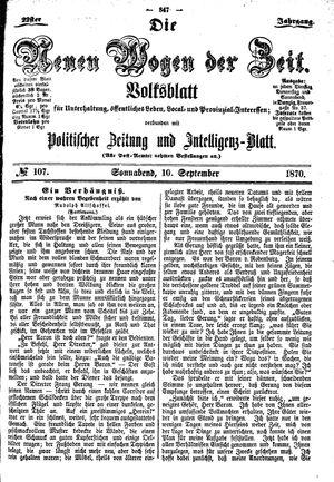 Neue Wogen der Zeit vom 10.09.1870