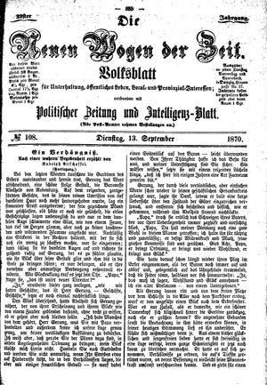 Neue Wogen der Zeit vom 13.09.1870