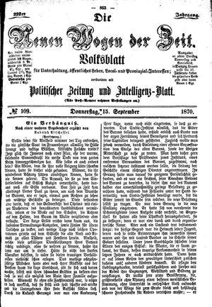 Neue Wogen der Zeit vom 15.09.1870