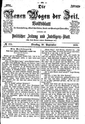 Neue Wogen der Zeit vom 20.09.1870