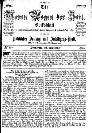 Neue Wogen der Zeit vom 29.09.1870