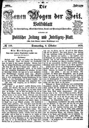 Neue Wogen der Zeit vom 06.10.1870