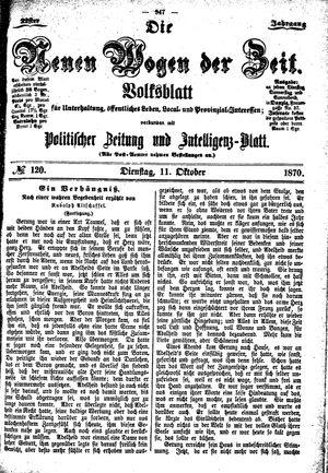 Neue Wogen der Zeit vom 11.10.1870