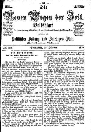 Neue Wogen der Zeit vom 15.10.1870