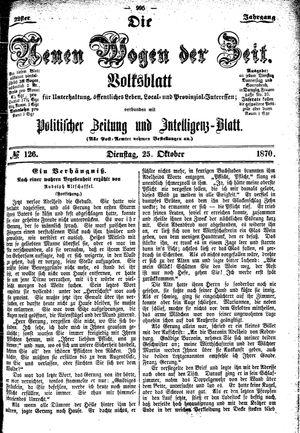 Neue Wogen der Zeit vom 25.10.1870