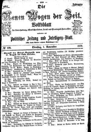 Neue Wogen der Zeit vom 01.11.1870