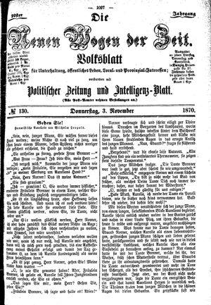 Neue Wogen der Zeit vom 03.11.1870