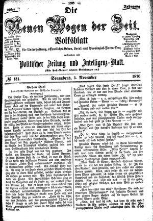 Neue Wogen der Zeit vom 05.11.1870