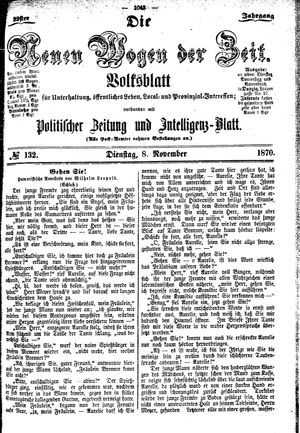 Neue Wogen der Zeit vom 08.11.1870
