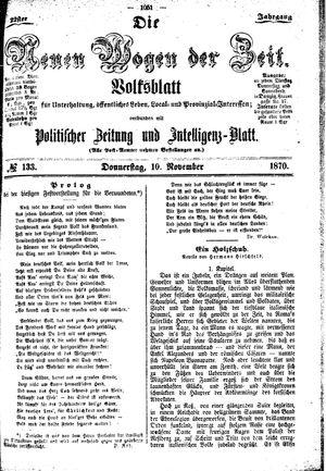 Neue Wogen der Zeit vom 10.11.1870