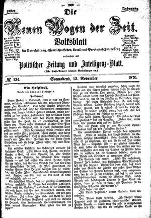 Neue Wogen der Zeit vom 12.11.1870