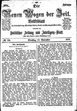 Neue Wogen der Zeit vom 15.11.1870
