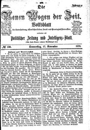 Neue Wogen der Zeit vom 17.11.1870