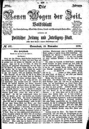 Neue Wogen der Zeit vom 19.11.1870