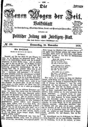 Neue Wogen der Zeit vom 24.11.1870